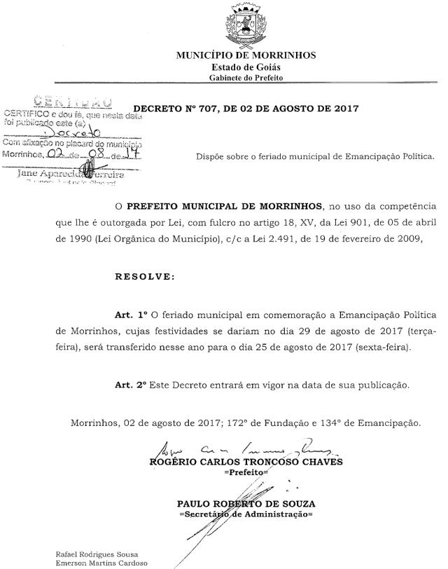 Morrinhos-GO-Decreto-25-Outubro